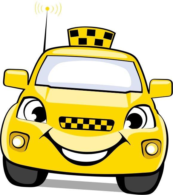 Картинки машинок мультяшные такси